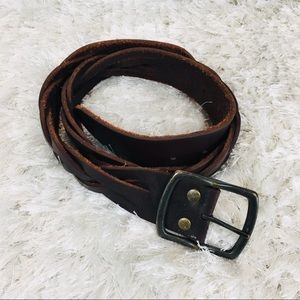 GAP Leather Braided S/M Brown Belt